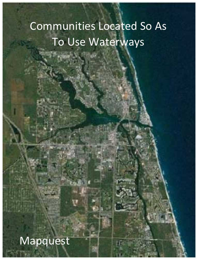 Community waterway locations