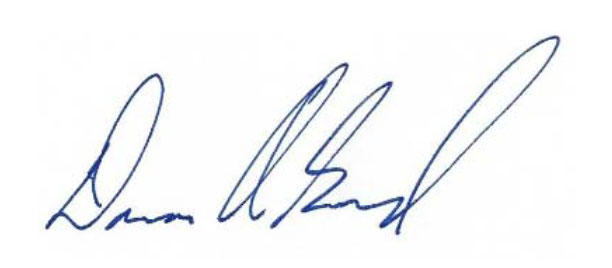 Dana Goward signature