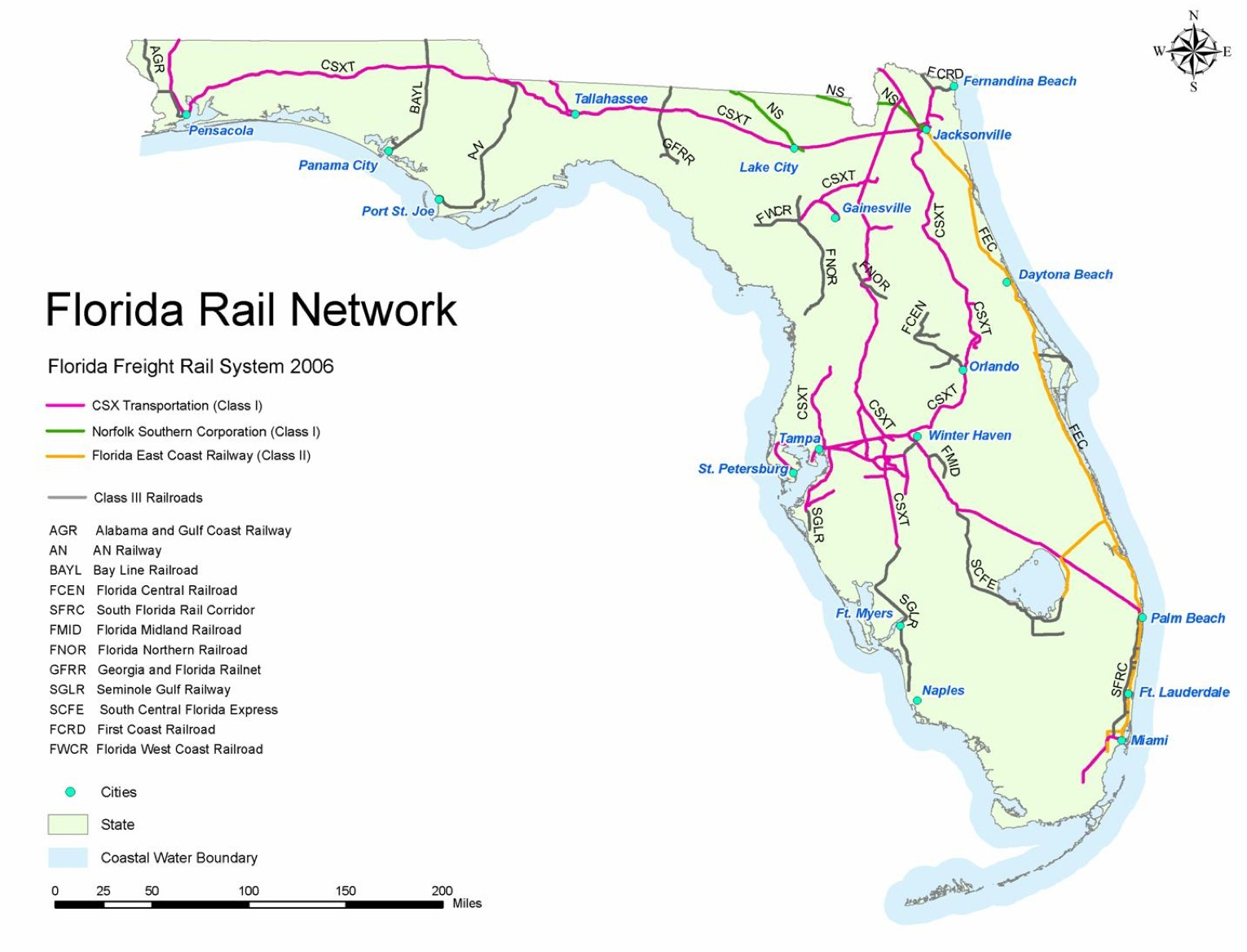 High Speed Rail Project Has Eye On Jacksonville - Us railroad map 2015